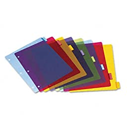 Cardinal Poly Index Dividers, Letter, Assorted, Eight-Tabs per Set, 4 Sets per Pack
