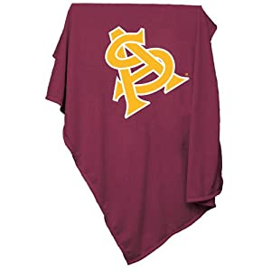Arizona State Sun Devils NCAA Sweatshirt Blanket Throw by Logo Chair