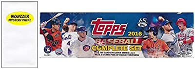 2016 Topps Baseball EXCLUSIVE MASSIVE 705 Card Retail Factory Set with 5 ROOKIE VARIATION Cards! Plus Bonus Wowzzer Mystery Pack with AUTOGRAPH or MEMORABILIA Card! Includes all Cards from Series 1&2