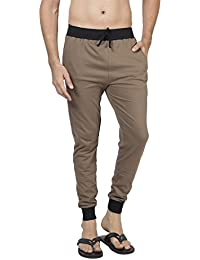 Clifton Men's Ribbed Slim Fit Track Pant - Walnut