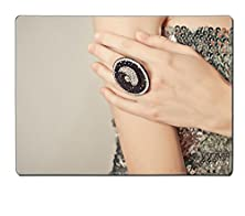 buy Msd Placemat Kitchen Table 15.8 X 12 X 0.2 Inches Advertizing Of Ornaments Ring On A Hand Of The Young Girl Image 32122851 Stain Resistance Kit Kitchen Table Top Desk Collector