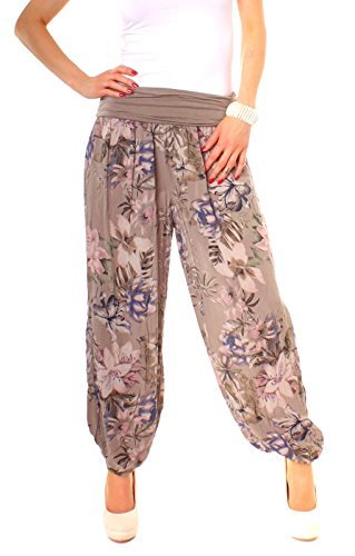 damen sommer pluderhose mit blumen muster onsize. Black Bedroom Furniture Sets. Home Design Ideas