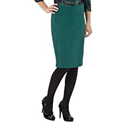 Product Image Tweed Pencil Skirt - Green