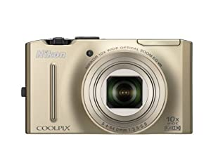 Nikon Coolpix S8100 12.1 MP CMOS Digital Camera with 10x Zoom-Nikkor ED Lens and 3.0-Inch LCD (Gold)