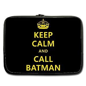 "Keep Calm and Call Batman 14"" Laptop Notebook Sleeve Case"