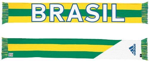 Brazil Brasil Adidas 2014 FIFA World Cup Authentic Jacquard Team Scarf