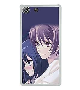 Love Couple 2D Hard Polycarbonate Designer Back Case Cover for Sony Xperia M5 Dual :: Sony Xperia M5 E5633 E5643 E5663