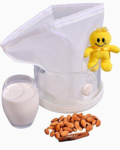 "Nut Milk Bag-Superior Quality-Finest Nylon Mesh-12""X12""-Food Grade-Multipurpose Kitchen Strainer"