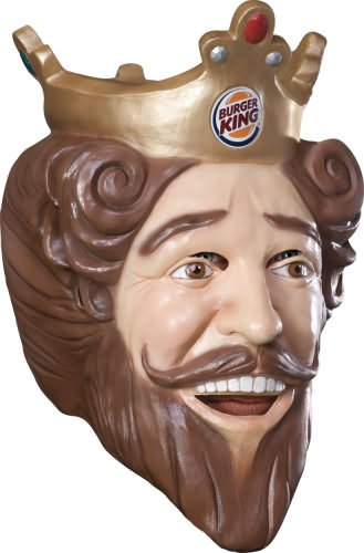 Costume Burger King Deluxe Latex Mask (Costume Of A King)
