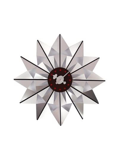 George Nelson Butterfly Clock, Silver
