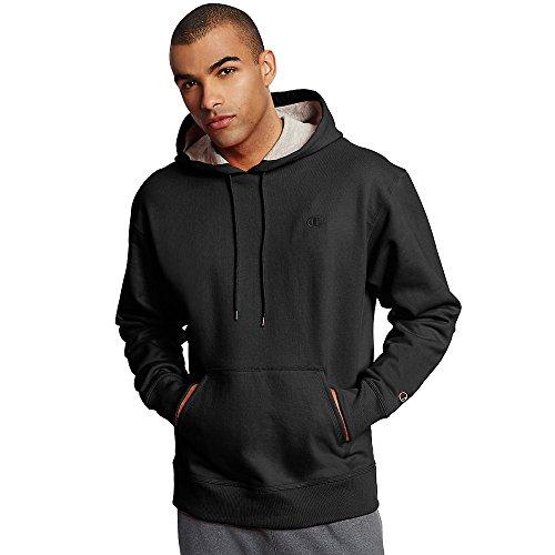 Champion Men's Powerblend Fleece Pullover Hoodie_Black_L