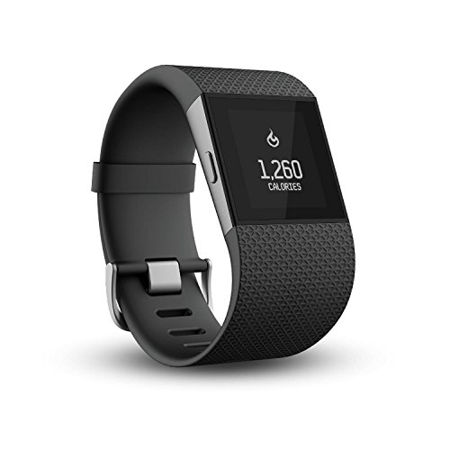 Fitbit Surge Ultimate Fitness Super Watch – Black, Large