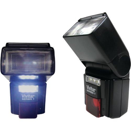 Vivitar Viv-Df-7000-Can Dslr Af Flash/Led Video Light For Canon (Black)