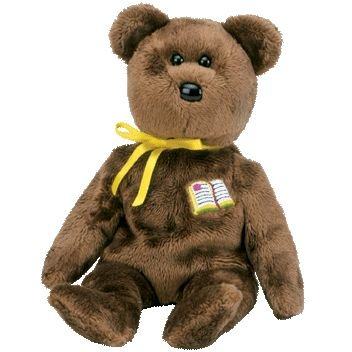 1 X TY Beanie Baby - WILLIAM the Bear (Open-Book Version - Europe Exclusive)