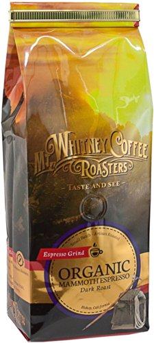 Mt. Whitney Coffee Roasters: 12 Oz, Usda Certified Organic Mammoth Espresso, Dark Roast, Espresso Grind Coffee