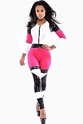 Fuchsia Leatherette Speedway Jumpsuit