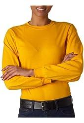 Jerzees Adult Seamless Ribbed Heavyweight Blend T-Shirt, Gold, Medium