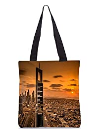 Snoogg Soul Of The City Digitally Printed Utility Tote Bag Handbag Made Of Poly Canvas