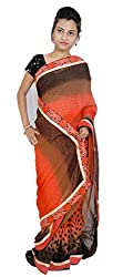 Aradhya Women's Printed Georgette Saree with Blouse Piece