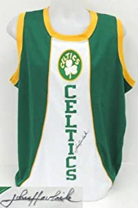 John Havlicek Boston Celtics Signed Green Majestic Hardwood Classics Jersey SI by Sports Integrity