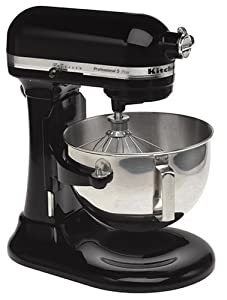 KitchenAid KSM50POB Professional 5 5-Quart Stand Mixer, Onyx Black