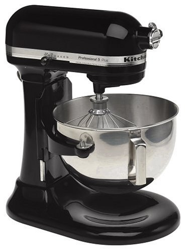 KitchenAid Professional HD Series Stand Mixer RKG25HOXOB , 5-Quart, Onyx Black, (Certified Refurbished)