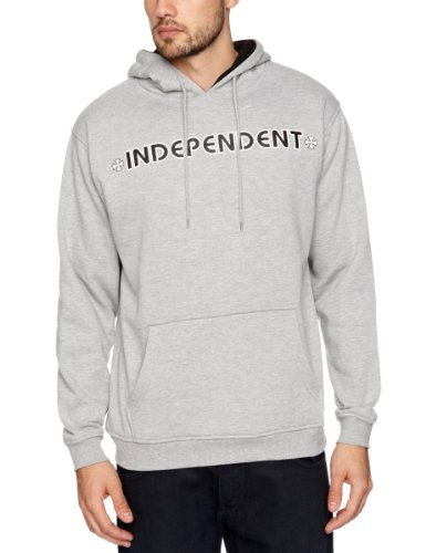 Independent Bar Cross Hood Men's Sweatshirt Heather Grey X Large