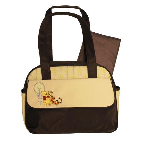 Disney Winnie the Pooh Large Tree Print Satchel Diaper Bag - 1