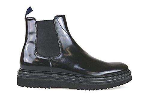 scarpe uomo GUARDIANI 40 stivaletti nero pelle lucida AK718-E