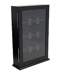 uhrenvitrine wand tischvitrine f r 12 uhren 2096 amazon. Black Bedroom Furniture Sets. Home Design Ideas