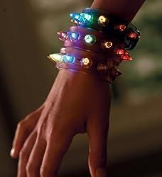 Versatile Light-Up 3in Bracelet Accessories, Set of 3, in Spike