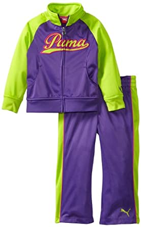 Amazon.com: PUMA Little Girls' Little Raglan Tricot Track Jacket And