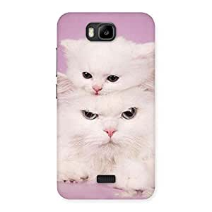 Kitty Family Back Case Cover for Honor Bee