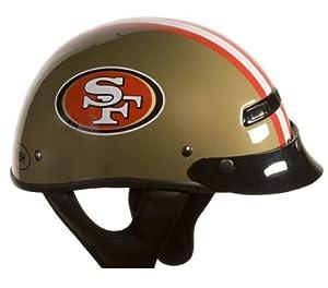 Brogies Bikewear NFL San Francisco 49ers Motorcycle Half Helmet (Gold, Medium) by Brogies Bikewear