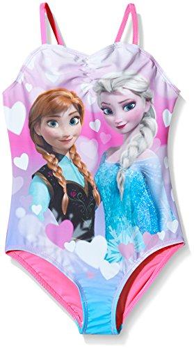 Disney Frozen-nuoto Bambina    Pink (Sugar Plum) 4 anni
