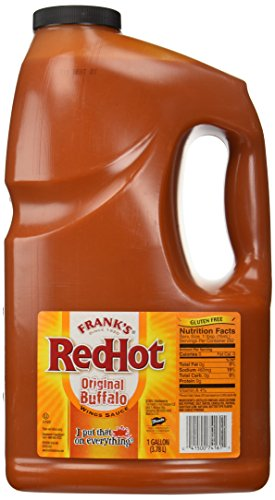1 Gallon Frank's Red Hot Wings Buffalo Wings Sauce (Gallon Red Hot Sauce compare prices)