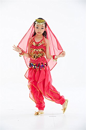 Dreamspell Professional Children Belly Dance Costume 6 Pieces(S Size)