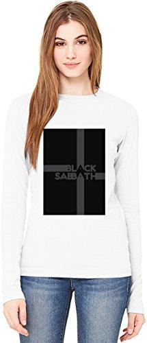 Black Sabbath Logo T-Shirt da Donna a Maniche Lunghe Long-Sleeve T-shirt For Women| 100% Premium Cotton Ultimate Comfort Medium