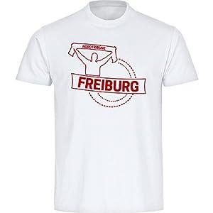 Shirt Fankurve Freiburg Herren weiß Gr. S - 5XL