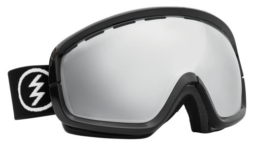 Electric Egb2S Snow Goggle (Yellow Lens Included), Gloss Black, Bronze/Silver Chrome