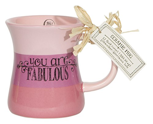 C.R. Gibson You are Fabulous Triple Dipped Ceramic Coffee Mug, Pink (R Coffee Mug compare prices)