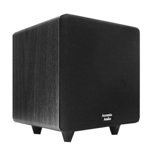 "Acoustic Audio Cinema Cs-Ps8-B 300 Watt 8"" Powered Subwoofer Home Theater Sub"