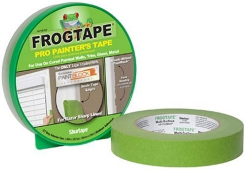Frog Tape 82011 Pro Painters Masking Tape, 1-Inch by 60-Yards, Green
