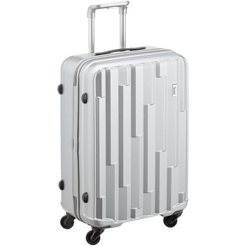 [ストラティック] Stratic Cliff /スーツケースMサイズ 4輪 56L 超軽量ハードタイプのキャリーケース 3-9546-65 003 /brilliant silver (シルバー)