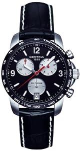 Certina C001.417.16.057.01 - Reloj de pulsera hombre, piel, color negro