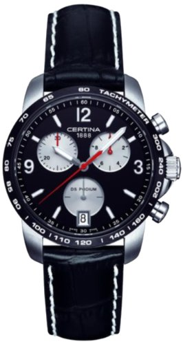 Herren-Armbanduhr XL Chronograph Quarz Leder C001.417.16.057.01