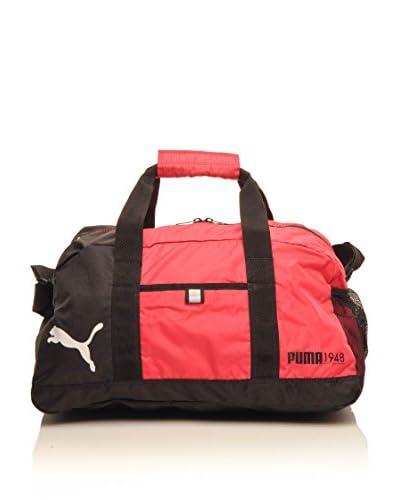 PUMA Borsa A Tracolla Fundamentals Sports Bag S [Nero/Fucsia]