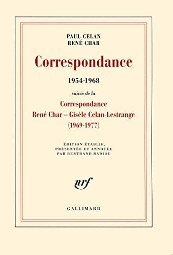 Correspondance (1954-1968). Suivi de la Correspondance René Char - Gisèle Celan Lestrange