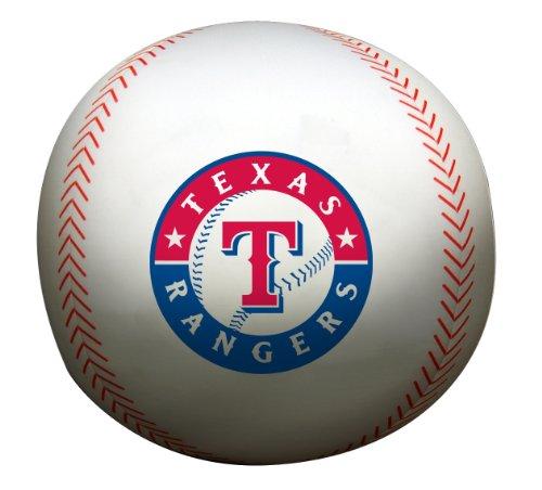 Mlb Texas Rangers 12-Inch Spandex Baseball Shaped Whoochie Pillow front-843064