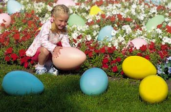 Set of 2 Giant Plastic Egg